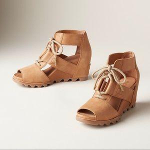 🆕 SOREL | Joanie Lace Sandals Camel Brown